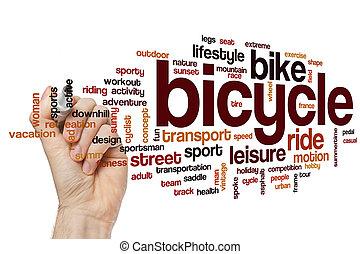 rower, słowo, chmura