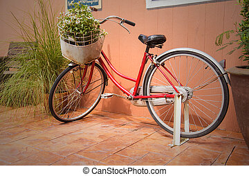 rower, z, kwiaty