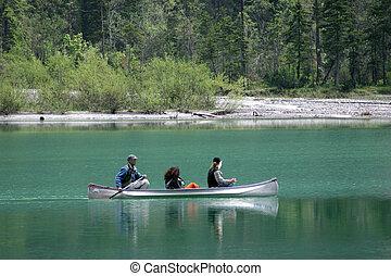 Rowers on Lake