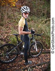 rowerzysta, górski rower