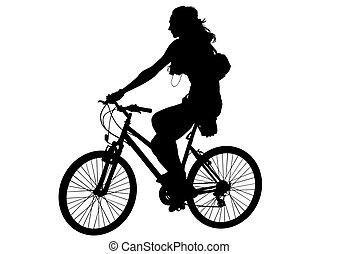 rowerzysta, kobieta