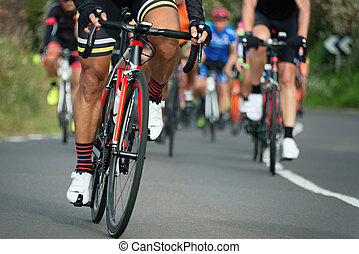 rowerzysta, kolarstwo, współzawodnictwo, prąd, jeżdżenie, atleci