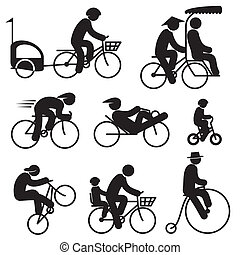 rowerzysta, ludzie