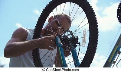rowerzysta, poręczny