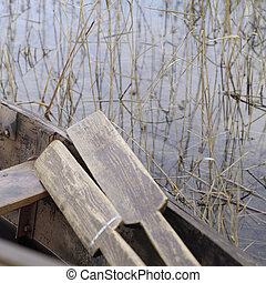 Rowing Boat And Oars