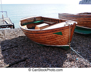Rowing boat on beach