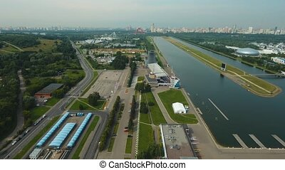 Rowing channel in Moscow. - Rowing channel for sporting...