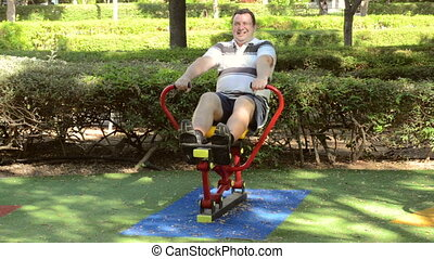 Rowing machine in the park