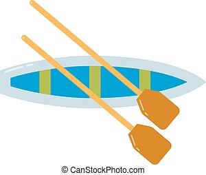 Rowing sports illustration.