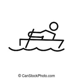 rowing training illustration design
