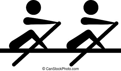 Rowing - two-man scull two party