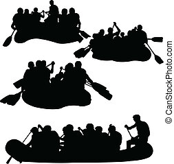 rowings, wektor, -, zbiór