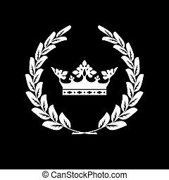 ?rown and laurel wreath - family blazon or coat of arms