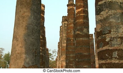 Rows of ancient, large columns