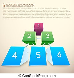 Rows Of Blocks Business Infographics