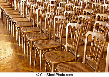 Rows of chairs - meeting background