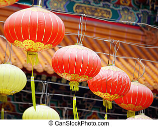 Rows Of Chinese Lantern