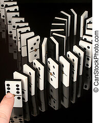 domino - rows of dominoes