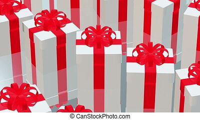 Rows of gift boxes