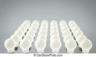 """""""Rows of Moving Light Bulbs"""" - """"A techno 3d rendering of..."""