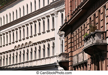 Rows of old windows