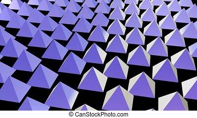 Rows of Purple Pyramids