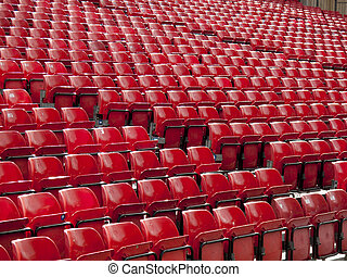 Rows of red seats