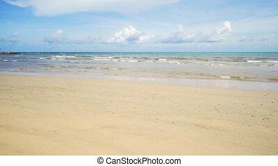 Rows of Tiny Waves on a Sandy Tropical Beach. UltraHD 4k ...