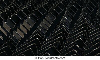 rows., texte, mouvement, noir, captions., tourner, coûteux, ...