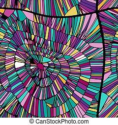 roxo, azul, padrão, abstratos, seamless, experiência., cores, vetorial, verde, amarela, kaleidoscope., cor-de-rosa