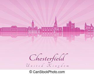 roxo, chesterfield, radiante, skyline, orquídea