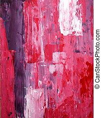 roxo, e, cor-de-rosa, arte abstrata