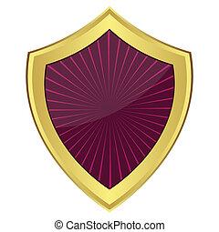 roxo, escudo
