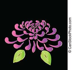 roxo, flor lotus, logotipo