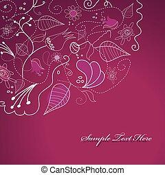 roxo, flowers., ilustração