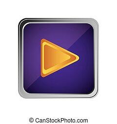 roxo, jogo, botão, fundo, ícone
