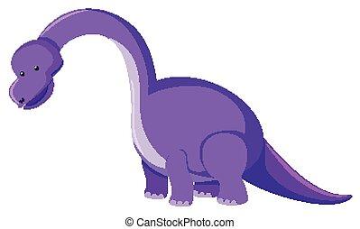 roxo, quadro, brachiosaurus, único