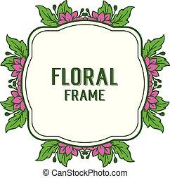 roxo, quadro, ilustração, vetorial, convite, floral, cartão