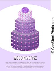 roxo, rosa, ilustração, cor, vetorial, bolo