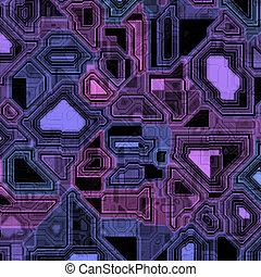 roxo, tábua, circuito