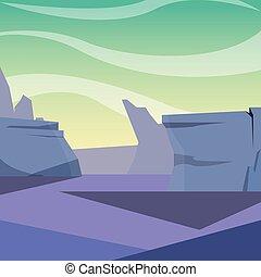 roxo, terreno, natural, nuvem, paisagem