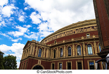 Royal Albert Hall of Arts and Sciences, London, England, UK, in late afternoon daylight