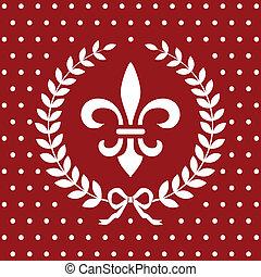 royal, arrière-plan rouge