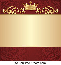 royal background with golden crown