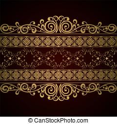 Royal background - Royal vintage damask vector background