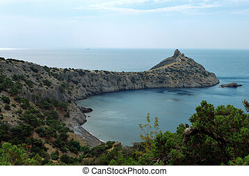 Royal bay in Crimea. The new world
