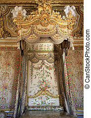 Castle of Versailles - Royal bed. Castle of Versailles...