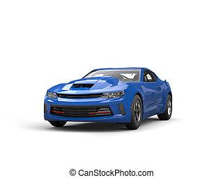 Royal blue modern muscle car - studio shot