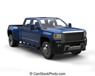 Royal blue pickup truck - studio shot