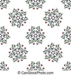 Royal Carp fish style seamless pattern